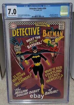 Detective Comics #359 (1967) CGC 7.0 1st App. Of Batgirl Barbara Gordon DC Key