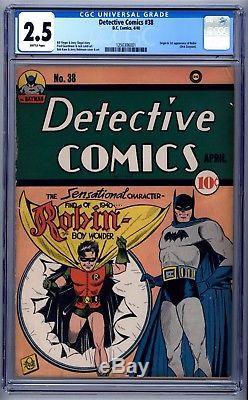 Detective Comics #38 CGC 2.5 Looks Much Better Origin & 1st Robin Batman Key