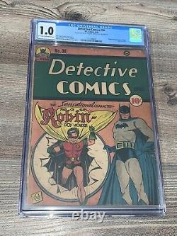 Detective Comics 38 Cgc 1.0 Fr DC 1940 1st Robin Golden Age Batman Rare