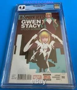 Edge Of Spider-verse #2 Cgc 9.8 Gwen Stacy Spider-man Comic Book 2014 Marvel 1