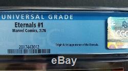 Eternals #1 Perfect Cgc 9.8 White Pgs Angelina Jolie Salma Hayek Film Coming