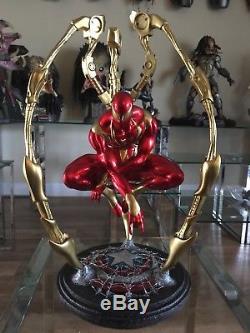 Extremely Rare Custom Iron Spiderman 14 Scale KIT Not XM Studios /Sideshow