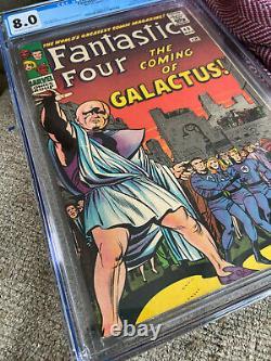 FANTASTIC FOUR #48 CGC 8.0 Silver Age Key Grail Comic Book 1ST SILVER SURFER