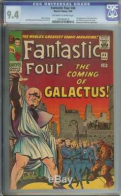 FANTASTIC FOUR #48 CGC 9.4 OWithWH PAGES