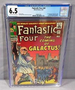 FANTASTIC FOUR #48 (Silver Surfer, Galactus 1st app) CGC 6.5 Marvel 1966 cbcs