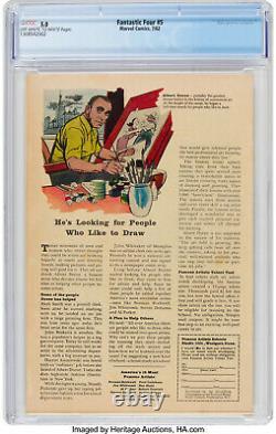 FANTASTIC FOUR #5 CGC 5.0 KEY GRAIL Silver Age Comic Book 1ST APP DOCTOR DOOM