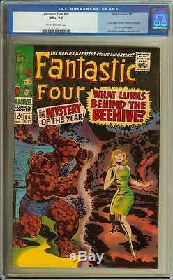 FANTASTIC FOUR #66 CGC 9.6 OWithWH PAGES