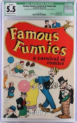 Famous Funnies Carnival of Comics #nn CGC 5.5 FN- 1933 2nd Comic Book ever