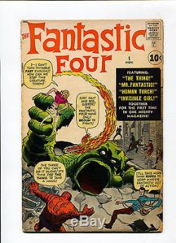 Fantastic Four #1 MEGA KEY 1st appearance & Origin Kirby Lee Marvel Silver Comic