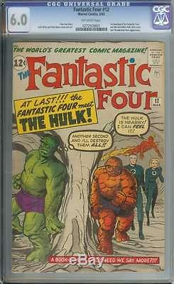 Fantastic Four #12 Cgc 6.0 Ow Pages