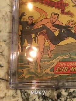 Fantastic Four #4 CGC 1.0 VINTAGE Marvel KEY 1st Silver Age Sub-Mariner
