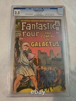 Fantastic Four #48 CGC 2.5 1ST Appearance Of Silver Surfer & Galactus -Stan Lee