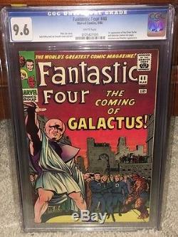 Fantastic Four #48 CGC 9.6 WHITE 1966 1st Silver Surfer & Galactus F12 175 cm bo