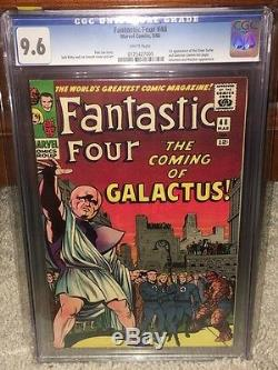 Fantastic Four #48 CGC 9.6 WHITE 1966 1st Silver Surfer & Galactus F12 cm clean