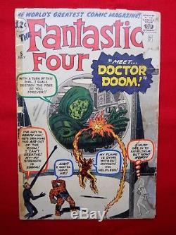 Fantastic Four 5 1st Appearance and Origin of Dr Doom Solid Reader Copy