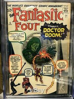 Fantastic Four #5 1st Doctor Doom CGC Graded 6.0
