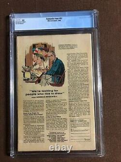Fantastic Four 52 cgc 3.5 off-white pages 1st Black Panther