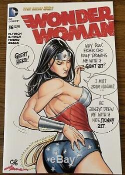 Frank Cho Adam Hughes Original Wonder Woman Art Sketch Cover Origin Of Outrage