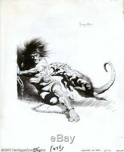 Frank Frazetta Original Art for Edgar Rice Burroughs Chessmen of Mars 1973 NR