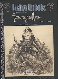 Frank Frazetta Rare High-quality Oversize Hardbound Book Docdave Winiewicz