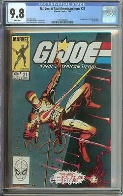 G. I. Joe, A Real American Hero #21 Cgc 9.8 White Pages