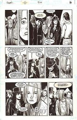 GAIMAN & BACHALO DEATH The High Cost Living #2 Original Vertigo Comic Art