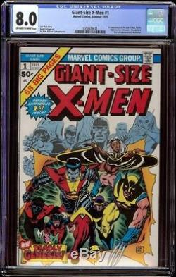 Giant Size X-Men # 1 CGC 8.0 OWithW (Marvel 1975) 1st Storm Colossus Nightcrawler
