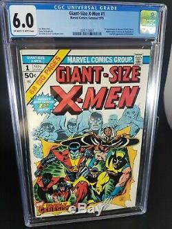 Giant-size X-men 1 Cgc 6.0 1975 1st App New X-men Storm Nightcrawler Colossus