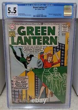 Green Lantern #7 (1961) CGC 5.5 1st Appearance of Sinestro DC Comics Key