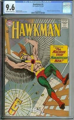 HAWKMAN #4 CGC 9.6 OWithWH PAGES