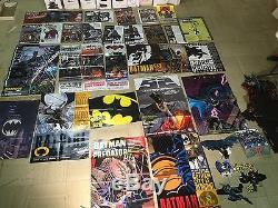 HUGE Batman comic book lot, vintage toy and poster collection $$ Make Offer
