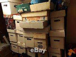 HUGE COMIC BOOK COLLECTION MARVEL/DC COMICSSPORTSCARD LOTIndependent-70 Boxes