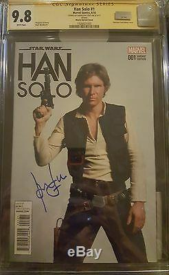 Han Solo #1 photo cover variant CGC 9.8 SS Signed by Harrison Ford