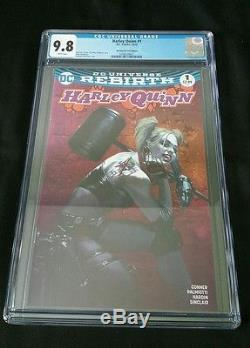 Harley Quinn #1 Rebirth Pink Bulletproof Dell'Otto Variant CGC 9.8 NM not cbcs