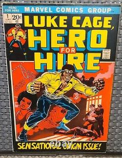 Hero For Hire #1-1st Luke Cage! KILLER upper mid grade! No Resto! Must have KEY