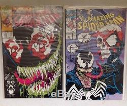 Huge Lot of 114 SPIDER-MAN Comics! Some Signed! Several VENOM & MAXIMUM CARNAGE