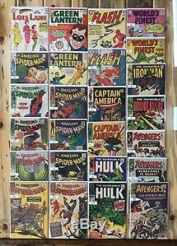 Huge Silver/Golden Age Comic Book Lot- 747 Comics Marvel, DC, Dell, Atlas