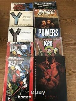 Huge TPB Comic Hardcover Lot Sandman Preacher Buffy Batman Spiderman 50 Books