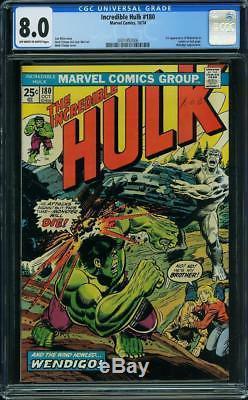 Hulk #180 CGC 8.0 1974 1st Wolverine! Cameo! Pre #181! VF Copy! G11 306 cm