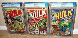 Hulk 180 & Hulk 181 & Hulk 182 (cgc 8.0) 1st Appearance Of Wolverine (logan)
