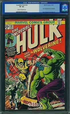 Hulk #181 CGC 8.0 Marvel 1974 1st Wolverine! After #180! Old Label! F12 402 cm