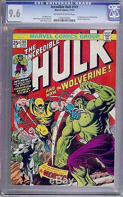 Hulk #181 CGC 9.6 1974 1st Wolverine! See centering 180 & 182 trio E12 121 cm bo