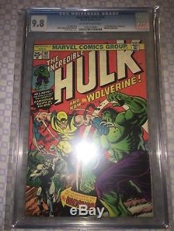 Hulk #181 CGC 9.8 Marvel 1974 1st Wolverine! X-Men! Like CGC! H3 cm