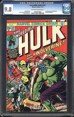 Hulk #181 CGC 9.8 NM/M 1974 1st Wolverine! X-Men! Trilogy of #180 & 182 F6 cm