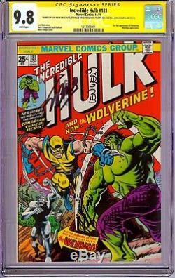 Hulk #181 CGC 9.8 SS Stan Lee, Trimpe, Wein & Romita! 1st Wolverine! Rare Gem