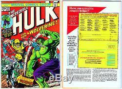 Hulk 181 Nov 74 1st Full Wolverine Wendigo Hi-rez Photos Mvs Intact