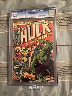 Hulk 181 cgc 9.2 White Pages