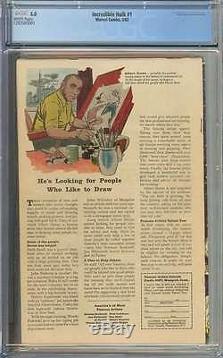 Incredible Hulk #1 Cgc 5.0 White Pages