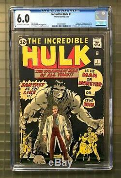 INCREDIBLE HULK #1 Marvel Comics 1962 CGC 6.0 1st Appearance of Hulk! HIGH END
