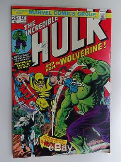 INCREDIBLE HULK #181 1ST FULL APPEARANCE OF WOLVERINE VALUE STAMP INTACT T